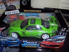 2003 muscle machines / sstuner 00 nissan skyline gt-r  r34 1/18 scale  in green