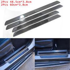 4pcs For Subaru Car SUV Door Sill Cover Carbon Fiber Plate Panel Step Protector