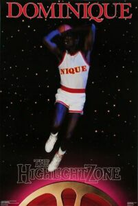 1987 Dominique Wilkins HIGHLIGHT ZONE poster Costacos MINT Factory Sealed NEW