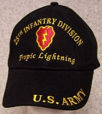 Embroidered Baseball Cap Military Army 25th Infantry Division NEW 1 size fit all