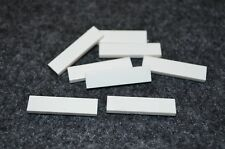 (8) WHITE 1x4 Smooth Finishing Tile Brick Bricks  ~ Lego  ~ NEW