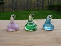 Vintage Murano Art Glass Hershey Kisses Set of 3