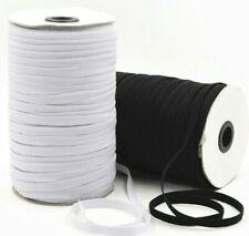 Black White Flat Elastic  6mm Premium Grade 1m 3m 5m 10m Great For Face Covering