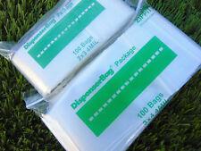 "4MIL 2""x3"" & 3""x4"" Ziplock Bags 200 pcs Heavyduty Reclosable Baggies 100 of each"