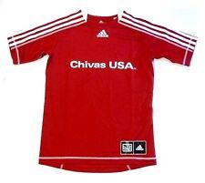 Chivas USA MLS Club Deportivo Adidas Soccer Jersey Red w/ White Shirt Men's XL