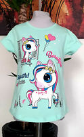 Kinder Mädchen T-shirt Gr. 104 Sommershirt kurzarm Einhorn Motiv