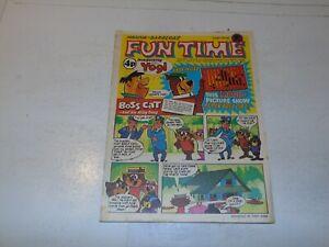 FUN TIME Comic - No 1 - Date 1972 - UK Paper comic