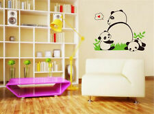 Panda and Baby Room Decor Removable Wall Stickers Decal Decoration Wandtattoo