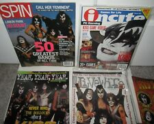 KISS SPIN MAGAZINE LOT INCITE LIVEWIRE YEAH TOUR GENE SIMMONS ACE FREHLEY X4