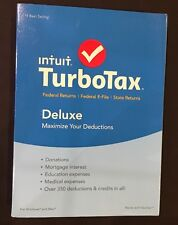 2015 TurboTax Deluxe Federal +State Returns+E-File Windows PC +Mac NEW Turbo Tax