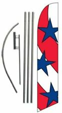 American Advertising Feather Banner Swooper Flag Sign With Flag Pole Kit And