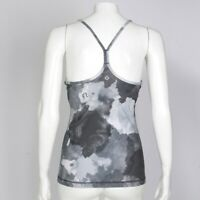 LULULEMON Gray Watercolor Splash Y-back Tank Top Womens size 6 Yoga Running 342