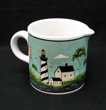 """Sakura - Warren Kimble - """"Coastal Breeze"""" Creamer - 1998 - Set of 2 - Mint!"""
