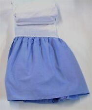 """Eagle Gathered Bed Skirt ~ King ~ Light Blue ~ 14"""" Drop **NEW**"""