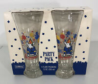 VTG Spuds MacKenzie Set of 4 Glasses Party NOS Beer 80s Bud Light Budweiser NEW