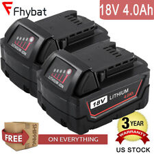 4000mAh 18V replace for Milwaukee M18 Battery LITHIUM 48-11-1850 48-11-1820 2PCS