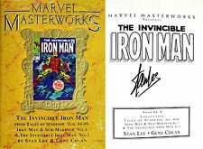 Stan Lee~Gene Colan~SIGNED~Invincible Iron Man~MARVEL MASTERWORKS Vol 77~1st/1st