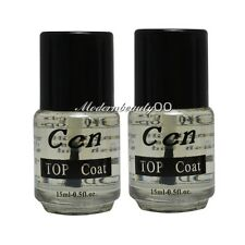 2 PCS Professional Top Coat for Acrylic Nail Art Polish Topcoat 15ml