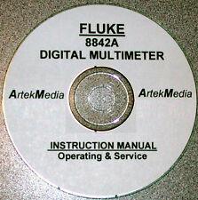 FLUKE 8842A DIGITAL  MULTIMETER Instruction (Service & Operating) Manual