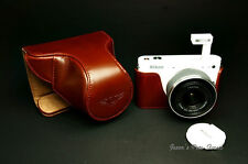 Handmade Full Real Leather Camera Case for Nikon J1(For 10-30mm/f3.5-5.6 Lens)