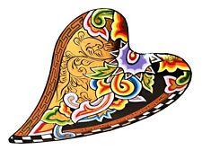 TOMS DRAG ART »SCHALE HERZ GOLD (S)« (#4236) IM DRAG STIL