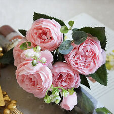 Artificial Flowers Silk Rose Peony Flower Bouquet Home Wedding Party Decorations