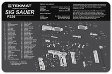 SUPER SIZE MOUSE MAT COMPUTER GAMERS BY TEKMAT WITH SIG SAUER P226 PISTOL DESIGN