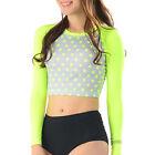 Belleap Rash Guard Womens Crop Top Long Sleeve Swimwear UV Protection 0524