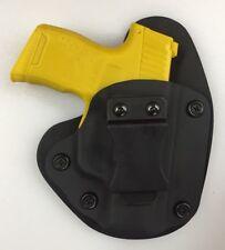 "Sig P365 IWB Hybrid Holster, Black Kydex, black leather, 1.5"" Belt, RH"