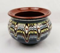 Vintage Art Pottery Hand Made Bulgarian Clay Pot Vessel