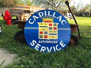 Antique Vintage Old Style Cadillac Sign
