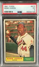 1961 TOPPS #415 HANK AARON PSA 5 - UNDERGRADED - CENTERED - CHECK IT OUT