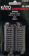 Kato N 62mm STRAIGHT TRACK 4pk KAT20040