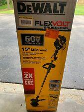 """NEW Dewalt FLEXVOLT Cordless 60V Brushless 15"""" String Trimmer DCST970X15"""