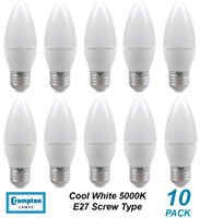 10 x 4W LED Candle Light Globes Bulbs Lamps E27 Screw ES Cool White 5000K