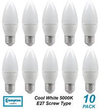 10 x Quality LED 4W Candle Light Globes / Bulbs E27 Screw Cool White 5000K