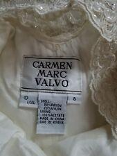 Carmen Marc Valvo Womens Ivory Cocktail Dress 8