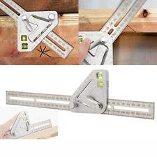 Revolutionary Carpentry Multi-functional Multi-angle Measuring Ruler Useful Tool