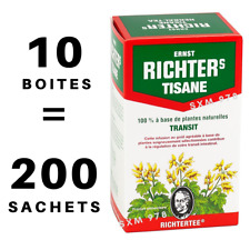 10 Boites Tisane Richters Régime Transit Perte Poids Detox Minceur Infusion Thé
