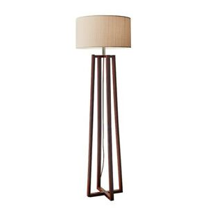 Adesso Quinn Floor Lamp, Walnut - 1504-15