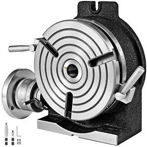 VEVOR Teilapparat Rundtisch 200mm Horizontal-Vertikal Teilkopf Schwenkbar CNC