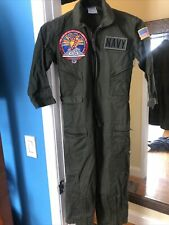 Kids Navy Pilot Flight Suit Military Coverall Jumpsuit Halloween Costume L