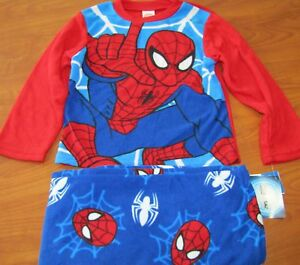 NEW MARVEL ULTIMATE SPIDER-MAN CHILDRENS BOYS 2-PIECE SLEEPWEAR SET SZ 6 8