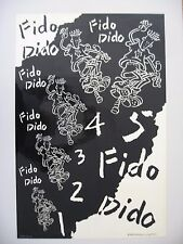 FIDO DIDO AUTHENTIC MEGA RARE1985 COLLECTOR'S  POSTER ON GLOSSY PAPER