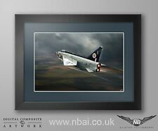 Framed English Electric Lightning F.1 Print, 74 Squadron, RAF Coltishall