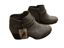 Ladies Sonoma Vitalize by Ortholite Booties Size 9M Charcoal ESME Western