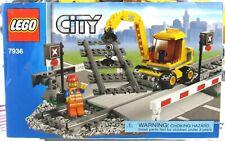 LEGO City 7936 Trains Level Crossing 100% Complete W/ Instructions & Mini Figure