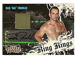 "RICH ""ACE"" FRANKLIN AUTO MATERIAL AUTOGRAPH RARE /500 RING KINGS 2008 DONRUSS"
