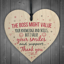 I Value You Colleague Wooden Heart Plaque Sign Friendship FRIEND Thank You Gift