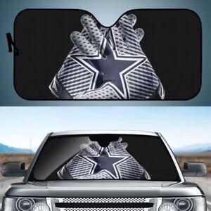 Foldable Dallas Cowboys Car Sun Shade Visor Front Windshield Block UV Cover
